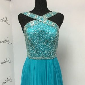 Sherri Hill 11319 Turquoise size 12